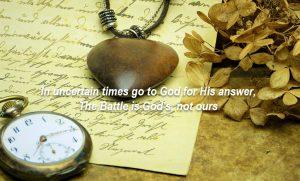 Trust God or man?