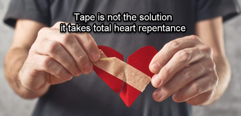 God looks for a broken repentant heart