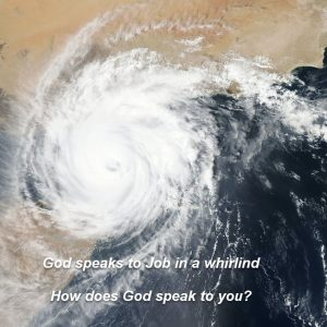 NASA picture from space of a whirlwind