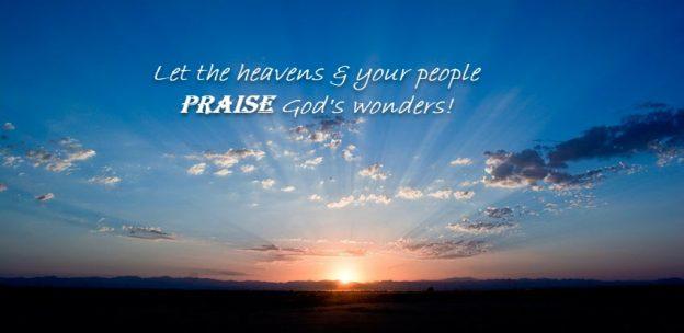 Give God praise!