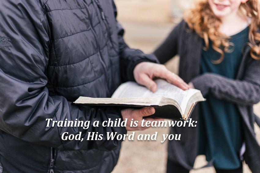 Raising a child includes teamwork