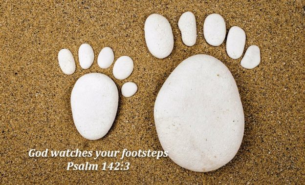 God knows our footsteps