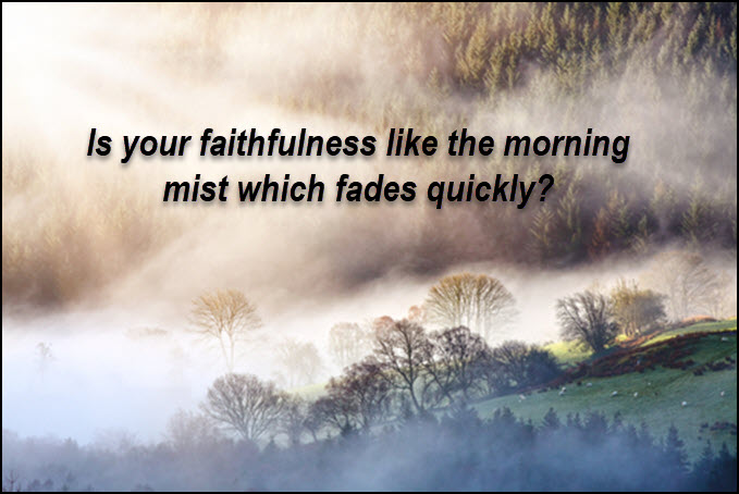 Is your faithfulness like the morning mist?