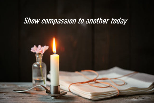 Advent gift of compassion towards others