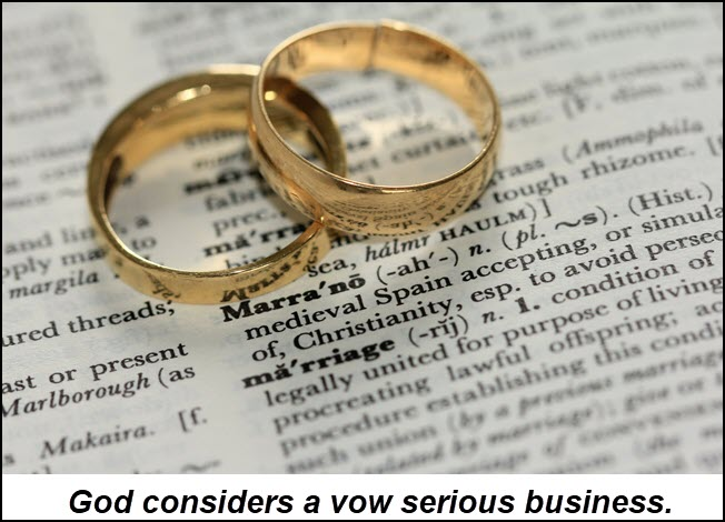 Vows are serious business