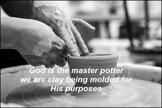 "God is ""my"" potter"