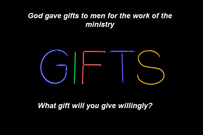 God has gifted men/women for ministry