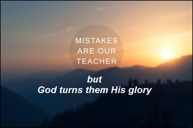 Our mistakes don't hamper God