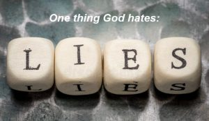 God hates lying lips