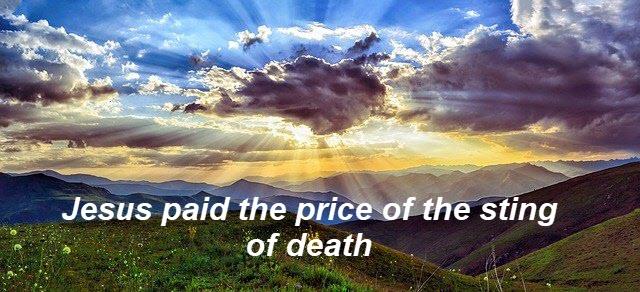 Jesus paid the price