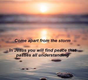 Peace comes from Jesus