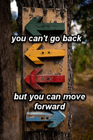 God's forgiveness is forward motion