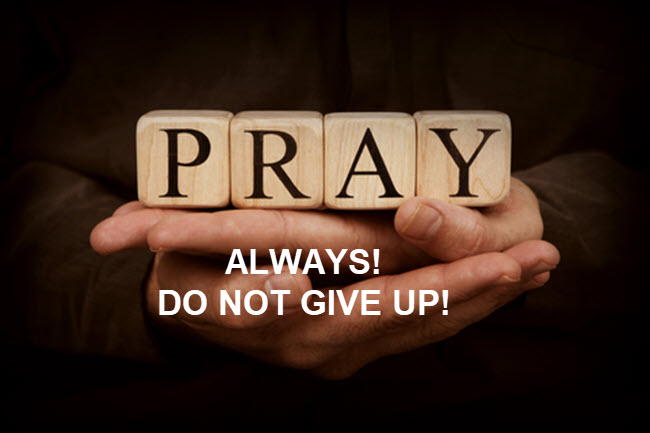 Our job is to pray